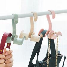 Closet Organizer Rod Hanger Handbag Storage Purse Hanging Rack Holder Hook Bag A