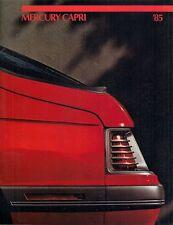 MERCURY CAPRI 1985 Stati Uniti del mercato delle vendite BROCHURE GS RS