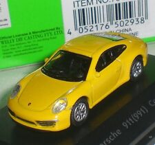 WELLY NEX MODELS PORSCHE 911 991 CARRERA S PC BOX GERMANY SCALE 1:87 HO NEW OVP