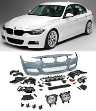 For 12-17 BMW F30 3 series M Tech Sport Front Bumper Cover Fog Lights NO PDC