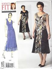 "Vogue Waist Detail Party Dress & Cape Plus Sizes Etc Bust 32""-55"" Sewing Pattern"