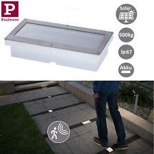 Paulmann LED Solar Bodeneinbauleuchten Aron 10x10cm 20x10cm mit Bewegungsmelder