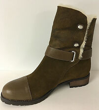 MATT BERNSON - TUNDRA BARK SUEDE/CREAM SHEARLING BOOT SZ 10 RETAIL $389