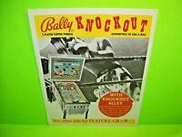 Bally KNOCKOUT 1975 Original Pinball Machine Flipper Game Promo Sales Flyer