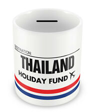 THAILAND Holiday Fund Money Box - Gift Idea Travelling Savings Piggy Bank