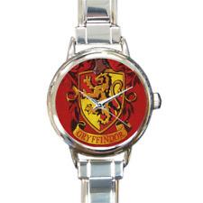 Gryffindor House Italian Charm Link Bracelet Watch Harry Potter Fans