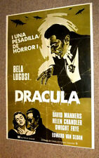 Vintage 1960s DRACULA Spanish MOVIE Poster BELA LUGOSI