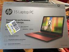 """Red HP 15.6"""" HD Display Intel Pentium N5000 Quad Core 4GB 500GB 15-bs234wm"""