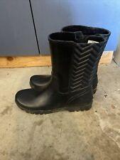 Sperry Nellie Chevron Rain Boots Black Sts99885 Women's US 11