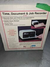 New Pti Pyramid M3500 Electronic Time Stamp Recorder