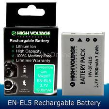 EN-EL5 Li-ion Battery for Nikon Coolpix P80 P90 P100 P500 P510 P520 1900mAh