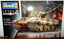 Revell Germany WWII German Tiger II Ausf. B w/ Henschel Tank Model Kit 1/35
