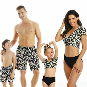 Swimsuit Summer Standpat Matching Family Outfits Swimwear Parent Kids Underwear