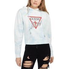 Guess Womens Icon Tie-Dye Embellished Logo Sweatshirt BHFO 5657