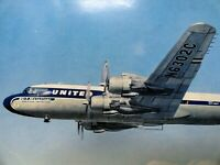 United Airlines - New DC-7 - World's Fastest Airliner - Vintage Postcard    M034