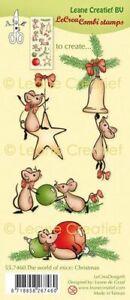 Stempel Clear stamp The world of Mice Mäuse Weihnachten Christmas LeCrea 55.7460