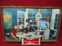 Early Working 1950's Original Vintage Budweiser Lighted Bar Sign
