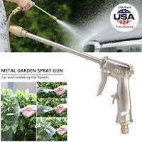 Garden Spray Water Gun Hose Long Nozzle High Pressure Adjustable Car Washer Kit