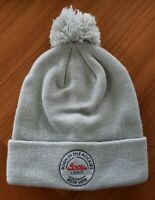 NEW Coors Light Beer Unisex Cuffed Winter Knit Pom Hat GRAY Born in the Rockies