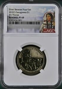 2018 S Sacagawea Jim Thorpe Dollar - NGC REVERSE PF69