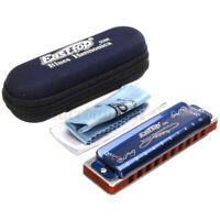 Easttop T008K 10 Loch Portable professionelle Blues Mundharmonika Schlüssel