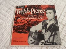 WEBB PIERCE DECCA EP  2145 THE WONDERING BOY PART 2 WITH COVER BACK STREET & 3