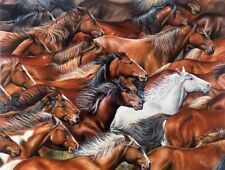 Jigsaw Puzzle Animal Horse Herd of a Different Color 550 pieces NEW made in USA