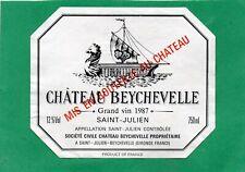 ST JULIEN 4E GCC VIEILLE ETIQUETTE CHATEAU BEYCHEVELLE 1987 75 CL RARE§12/04/19§