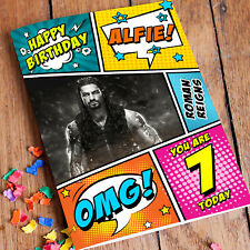 ROMAN REIGNS WWE Personalised Birthday Card! FAST 1st Class Shipping!