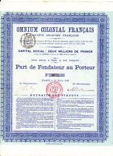Omnium colonial francais-part de fundador au venio de 1899