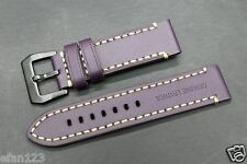 LB-214 22mm Purple Genuine Leather Wristwatch Bands / Watches Band Brand-New