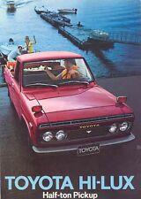 1972 Toyota HILUX Half Ton Pickup Sales Brochure mw4323-VC5U8Q