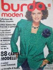 BURDA Moden n°10 1985  - con cartamodelli  [M10]