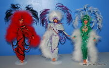3 OOAK Barbie Dolls Vegas Showgirl Burlesque Dancers by Don Hayward Kansas City