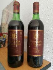 2 Botellas del Increíble RIOJA MARQUES DE CACERES 1981 Crianza- Impecables