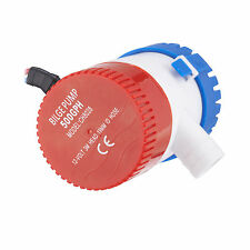 "NEW 3/4"" Electric Bilge Pump  Outlet 25D 500 GPH 12V 20A Submersible Marine Boat"