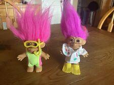 Russ Troll Scuba Diver Doll Pink Haired Scuba Mask & Snorkel Painter Vintage