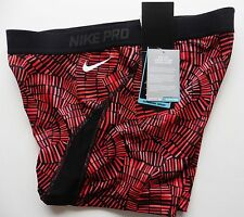 Nike Pro CROSSFIT GYM Shorts RED BLACK COMPRESSION XLARGE  hypercool  NEW TAGS