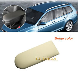 Light Beige Leather Armrest Lid Cover Fits Volkswagen Golf Jetta MK4 Passat