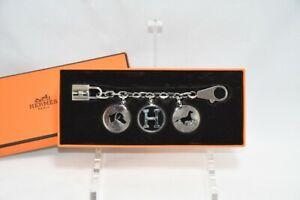 Hermes Breloque Olga Silver Charm Bag Amulette Palladium Berloque Cadena M15
