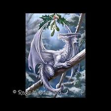 *SNOW DRAGON* Anne Stokes Fantasy Dragon Art Blank Christmas Card (AN11)