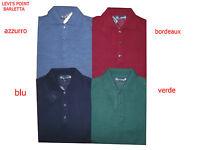 Polo uomo lana merinos maglia rasata con colletto bottoni taglia M L XL 2XL