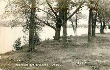 Wisconsin, WI, Amery, Lake Scene 1949 Real Photo Postcard