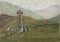 A. Blanchford - Monogrammed 1880 Watercolour, View of St Georgians Monument