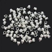 Tibetan Silver Connectors Bails Fit Charm-European Bead Bracelet Hot 100Pcs