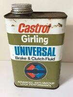 Vintage Castrol Girling Tin Universal Brake & Clutch fluid 1 Ltr   Film TV Prop