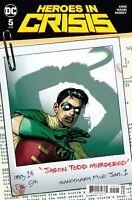 HEROES IN CRISIS #5 NM – DEAD ROBIN JASON TODD Ryan Sook Cover – DC COMICS 2019