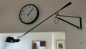 Italian Designer Wall Lamp Paolo Rizatto 265 by Mobelaris - Black - Medium