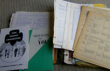 RARE huge binder filled/w VINTAGE 1960 GIRL SCOUT papers songs newsletters forms