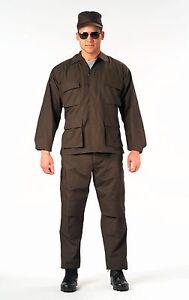 Police Security Black SHIRT Law Enforcer Rip-Stop BDU Uniform Cotton SWAT-CLOTH